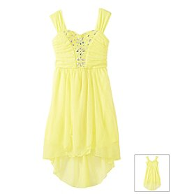 Sequin Hearts Girls' 7-16 Hi Low Dress With Embellishment
