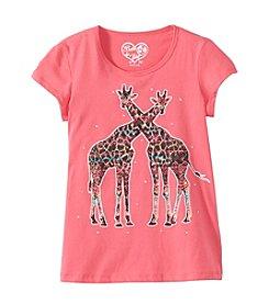 Belle du Jour Girls' 7-16 Short Sleeve Giraffe Tee
