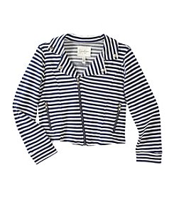 Jessica Simpson Girls' 7-16 Striped Full Zip Jacket