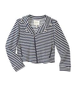 Jessica Simpson Girls' 7-16 Striped Full Zip Jacket