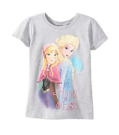 Disney® Girls' 7-16 Short Sleeve Anna And Elsa Tee