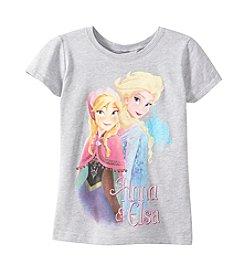 Disney® Girls' 7-16 Short Sleeve Anna And Elsa Tee