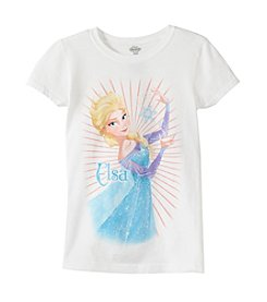 Disney® Girls' 7-16 Elsa Short Sleeve Tee