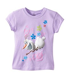 Disney® Girls' 7-16 Short Sleeve Olaf Tee