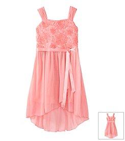 Amy Byer Girls' 7-16 Soutache Hi Low Dress
