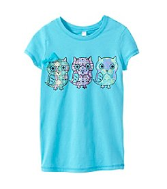 Beautees Girls' 7-16 Owl Screen Tee