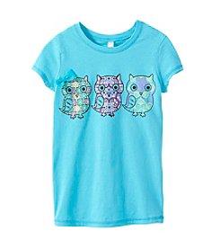 Beautees Girls' 7-16 Owl Screen Tee
