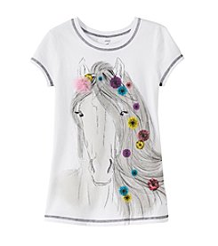 Beautees Girls' 7-16 Horse Screen Tee