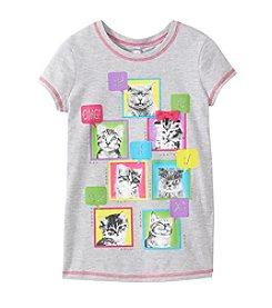 Beautees Girls' 7-16 Emoticon Cat Tee