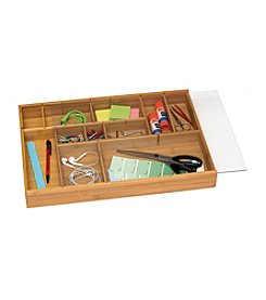 Lipper International Adjustable Drawer Organizer with Acrylic Slide Cover