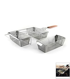 Charcoal Companion® Stainless 3-Compartment Basket