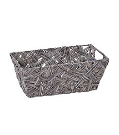 Simplify Grey Crazy Weave Shelf Tote