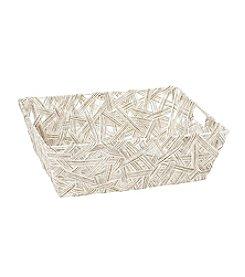 Simplify Natural Crazy Weave Shelf Tote