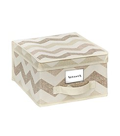 The Macbeth Collection® Textured Chevron Storage Box