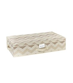 The Macbeth Collection® Textured Chevron Under-The-Bed Storage Box