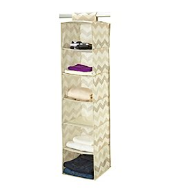 The Macbeth Collection® Textured Chevron 6-Shelf Organizer