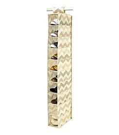 The Macbeth Collection® Textured Chevron 10-Shelf Shoe Organizer