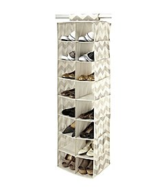 The Macbeth Collection® Textured Chevron 16-Pocket Shoe Organizer