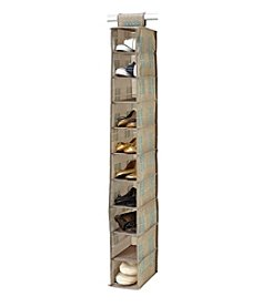 SedaFrance Cameo Key Taupe 10-Shelf Shoe Organizer