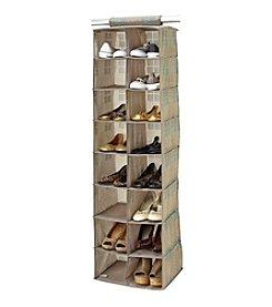 SedaFrance Cameo Key Taupe 16-Pocket Shoe Organizer