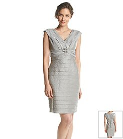London Times® Petites' Shutter Sheath Dress