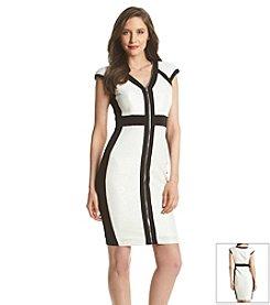 JAX® Colorblock Zipper Front Dress