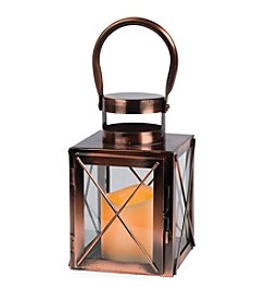 Gerson Copper Flameless LED Lantern