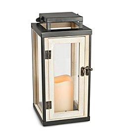 Gerson Tuxedo Wood Trim Lantern