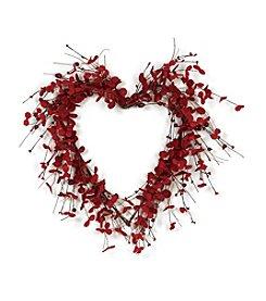 Transpac Art Eucalyptus Heart Wreath