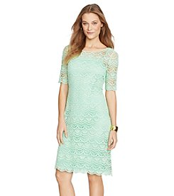 Lauren Ralph Lauren® Lace Boatneck Day Dress