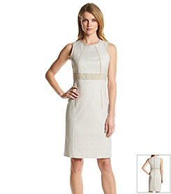 Calvin Klein Cotton Framed Sheath Dress