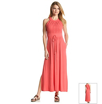 c08a7006949 UPC 888738784481 product image for Calvin Klein Crochet Drawstring Maxi  Dress