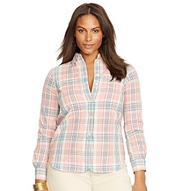Lauren Jeans Co.® Plus Size Plaid Cotton Shirt