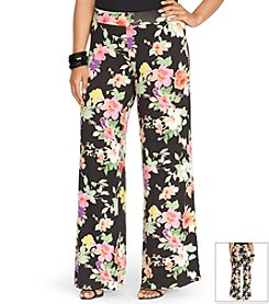 Lauren Ralph Lauren® Plus Size Wide-Leg Floral Pants