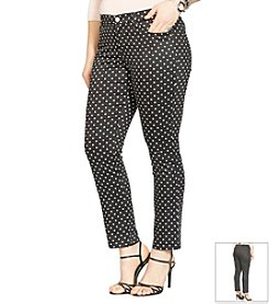 Lauren Ralph Lauren® Plus Size Polka-Dot Skinny Ankle Pants