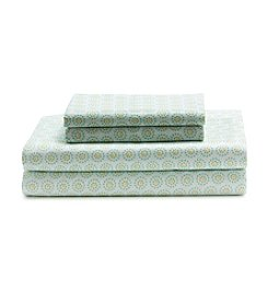 LivingQuarters Cool Dots Cool Touch Select Percale Sheet Set
