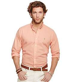 Polo Ralph Lauren® Men's Long Sleeve Gingham Poplin