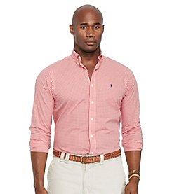 Polo Ralph Lauren® Men's Big & Tall Long Sleeve Gingham Poplin