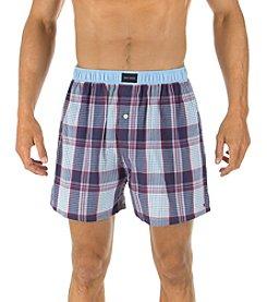 Tommy Hilfiger® Men's Plaid Hanging Woven Boxer