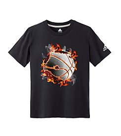 adidas® Boys' 8-20 Short Sleeve Basketball Tee