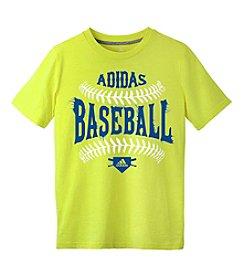 adidas® Boys' 8-20 Short Sleeve Baseball Tee