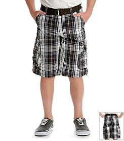 Lee® Boys' 4-18 Plaid Cargo Shorts