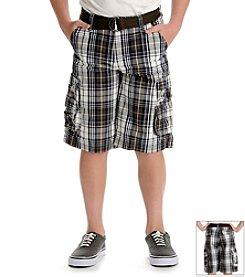 Lee® Boys' 4-18 Plaid Cargo Shorts