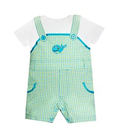 Baby Essentials® Baby Boys' 2-Piece Whale Mock Romper