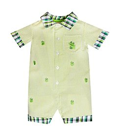Baby Essentials® Baby Boys' Frog Seersucker Romper
