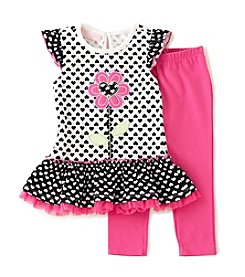 Kids Headquarters® Baby Girls' 2-Piece Tunic And Leggings Set