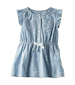 OshKosh B'Gosh® Baby Girls' Sleeveless Print Chambray Dress