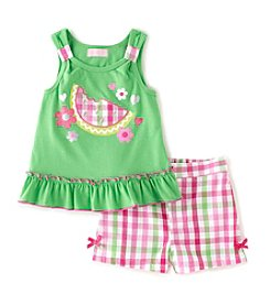 Kids Headquarters® Girls' 2T-6X Watermelon Shorts Set