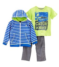 Nannette® Boys' 2T-7 3-Piece Wave Hoodie And Pants Set