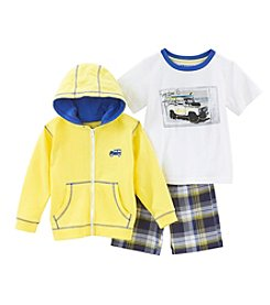 Nannette® Boys' 2T-7 3-Piece Car Hoodie And Shorts Set
